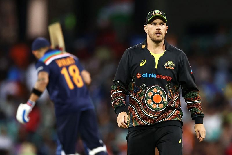 Aaron Finch was pleased with Australia