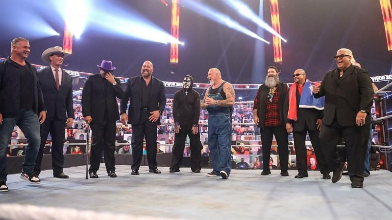 The WWE legends at Undertaker