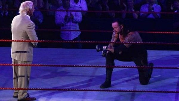 Even The Undertaker broke character, in order to show his respect