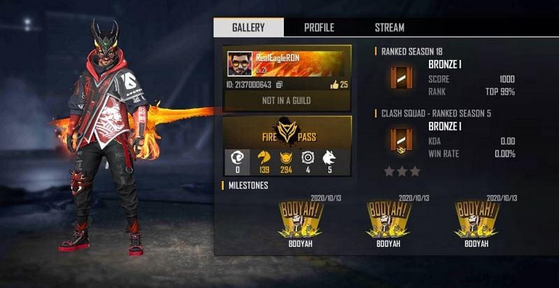 Ron Gaming's Free Fire ID