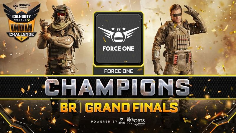 Force One topped the Call of Duty Mobile India Challenge: Battle Royale table with 120 points