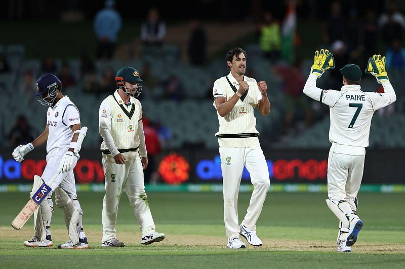 Mitchell Starc has dismissed Ajinkya Rahane thrice in Test cricket.