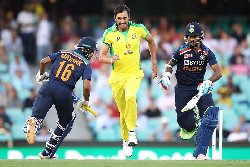 Shikhar Dhawan (R) and Mayank Agarwal (L) put on an average opening stand of 45.67 in the ODI series
