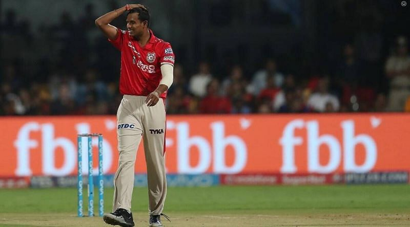 Natarajan picked up 2 wickets in 6 games for KXIP in IPL 2017