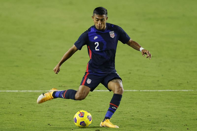 Julian Araujo in action for the United States
