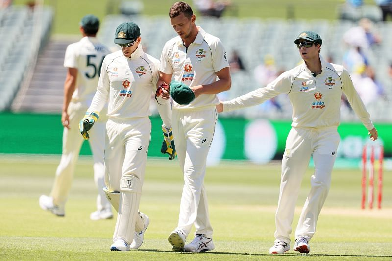 Tim Paine can always be seen in the bowlers