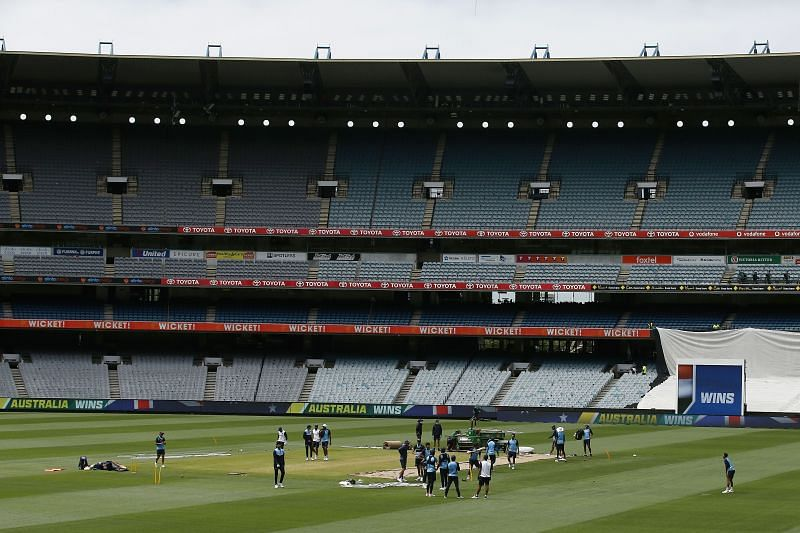 The teams are gearing up at the MCG in the build-up to the Boxing Day contest