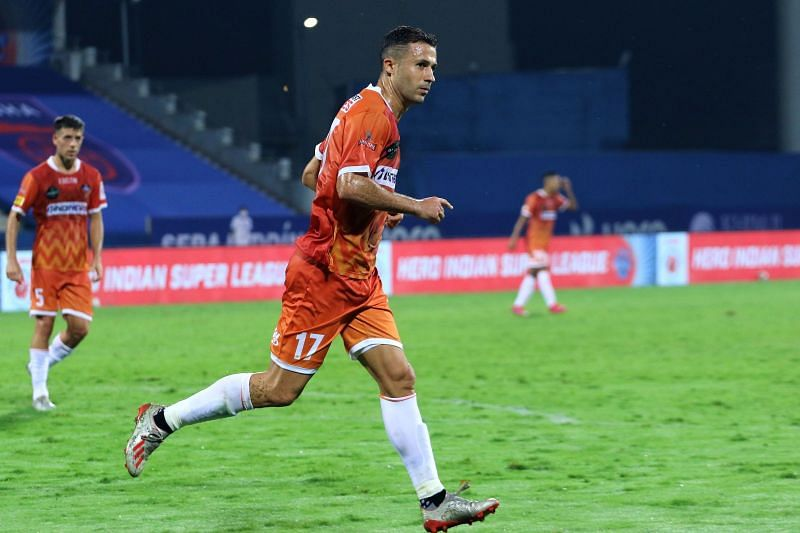 Igor Angulo has scored 6 goals in just 7 games for FC Goa in the current season so far. (Image: ISL)