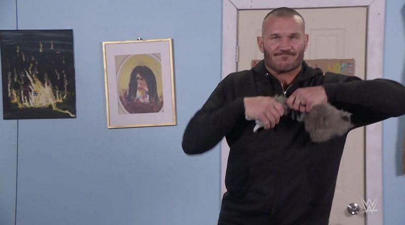 Randy Orton decapitating Rambling Rabbit