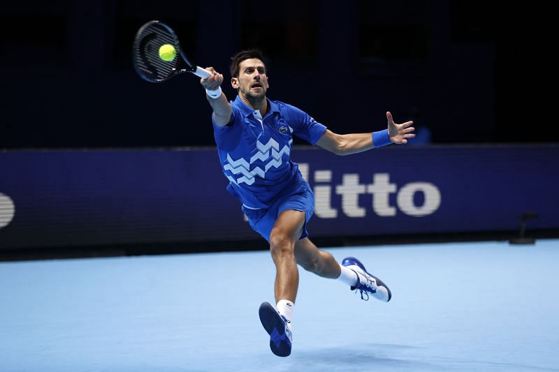 Novak Djokovic at the ATP Finals