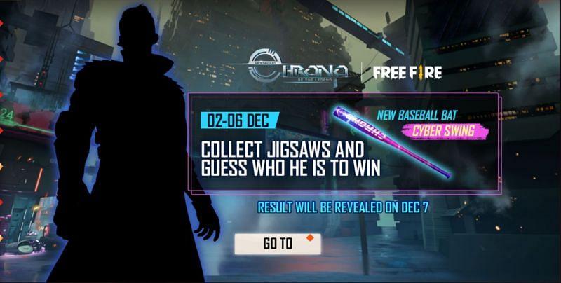 Guess The Ambassador Jigsaw event in Garena Free Fire