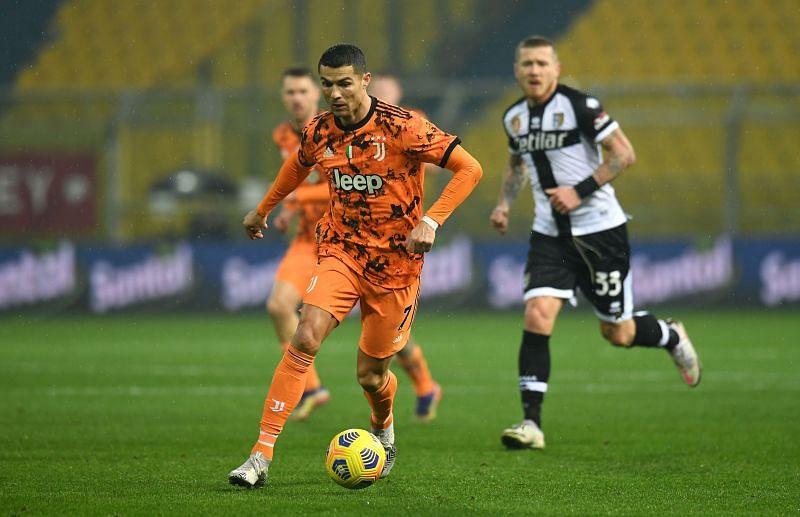 Ronaldo scored a brace to sink Parma