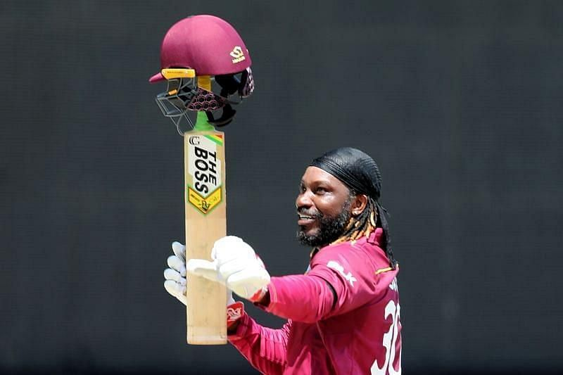 Chris Gayle has scored more than 1000 runs in T20I cricket in the last ten years