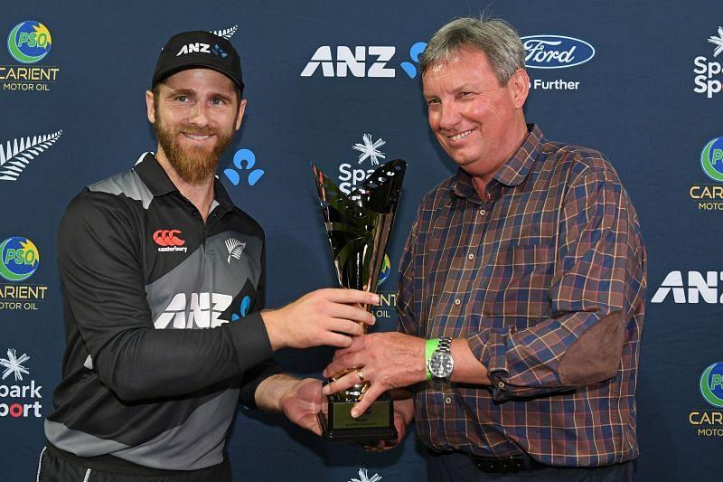 Kane Williamson and New Zealand celebrated winning the trophy