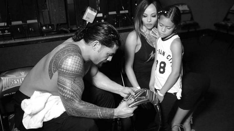 WWE यूनिवर्सल चैंपियन रोमन रेंस की बेटी साल 2014 में एक स्टोरीलाइन का हिस्सा रह चुकी हैं