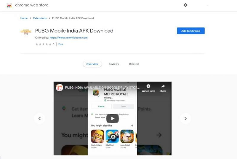 Fake application on the Google Play Store