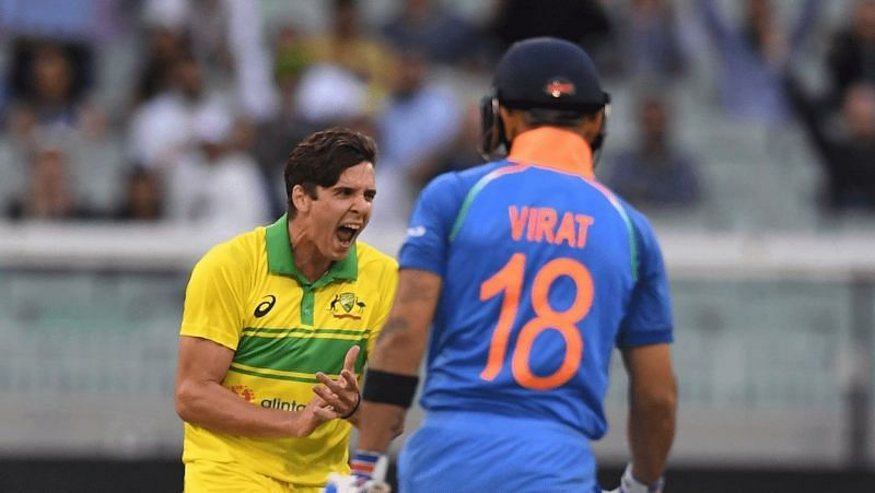 Jhye Richardson dismissed Virat Kohli in all three innings of India