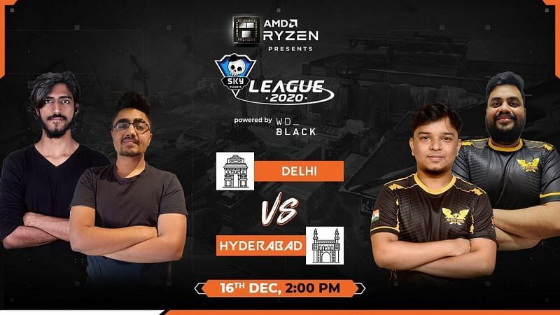 Team Hyderabad defeats Team Delhi in Skyesports League 2020 Day 13 (Image via Skyesports)