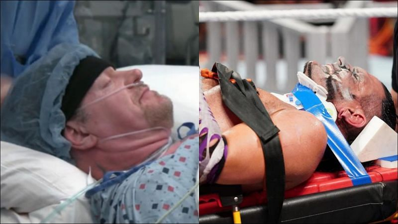 These five Superstars were taken away on a stretcher