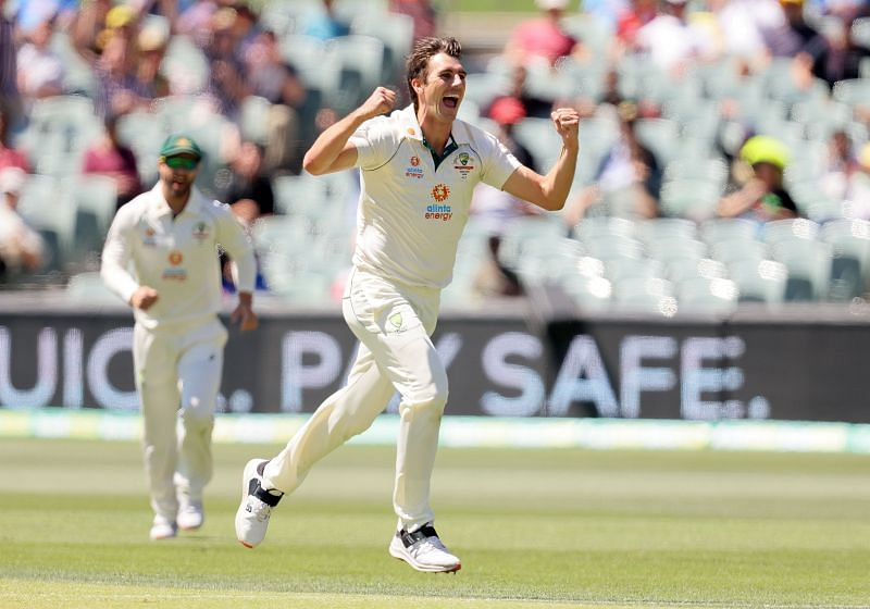 Pat Cummins finished with figures of 10.2-4-21-4 in the second innings of the Adelaide Test.