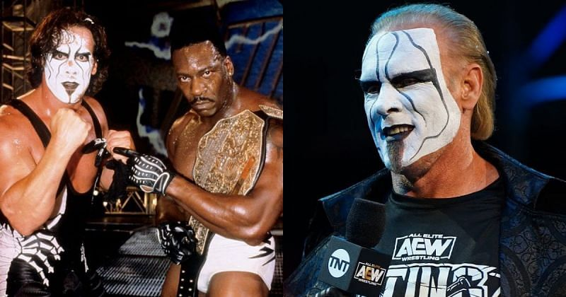 Sting and Booker T.