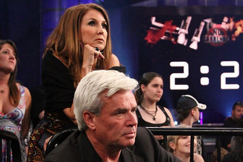 Dixie Carter and Eric Bischoff