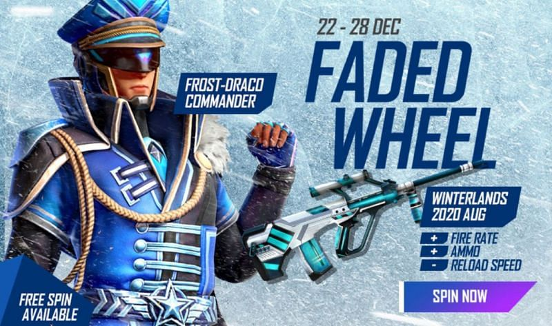 The Winterlands 2020 AUG skin is available in the Faded Wheel