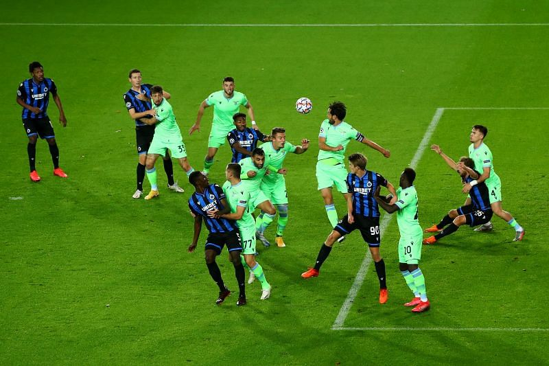 Club Brugge travel to face Lazio in the UEFA Champions League
