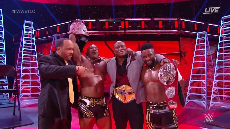 Cedric Alexander and Shelton Benjamin defeated the New Day at WWE TLC to become the new RAW Tag Team Champions.
