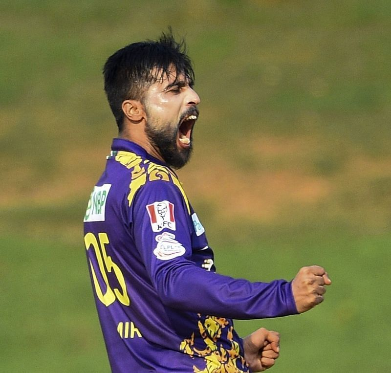 Mohammad Amir. Pic: Galle Gladiators/ Twitter