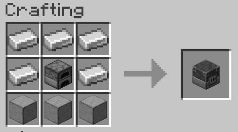 Smooth stone is the base block for the blast furnace crafting recipe
