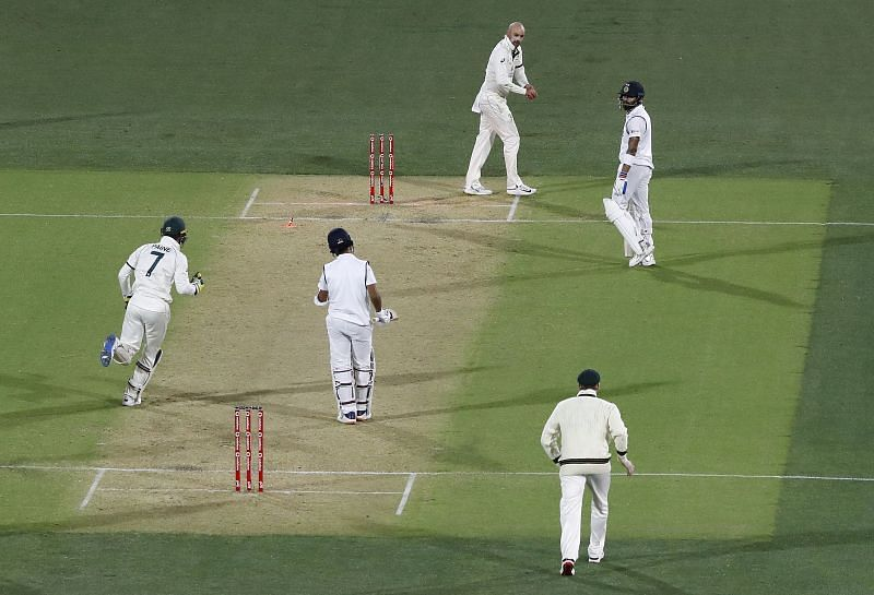 Virat Kohli was run-out at a crucial juncture of the game