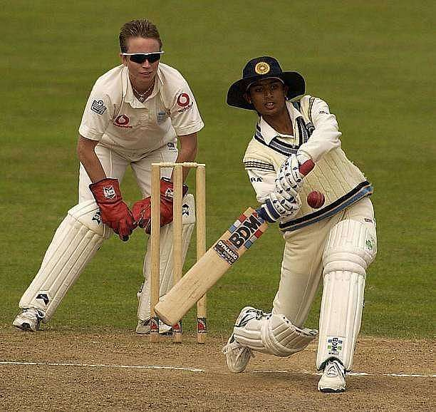 Mithali Raj en route her double century for the Indian team.