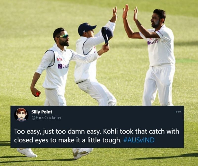 Virat Kohli took a super catch to dismiss Cameron Green