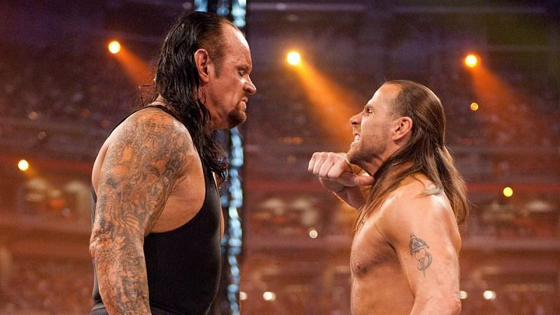 The Undertaker and Shawn Michaels faced each other at WrestleMania 2