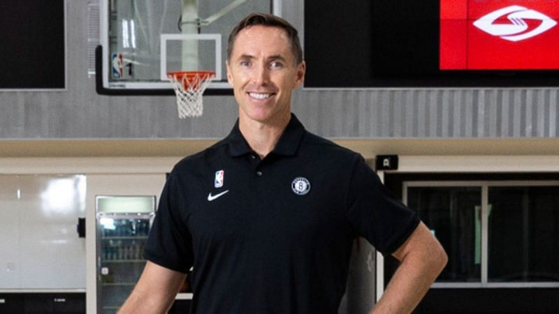 Steve Nash with the Brooklyn Nets