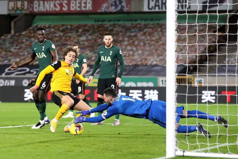 Fabio Silva had a frustrating match up front for Wolves tonight