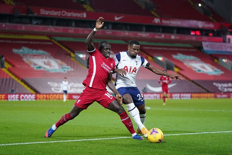 Mane and co gave Aurier a torrid time. down Spurs