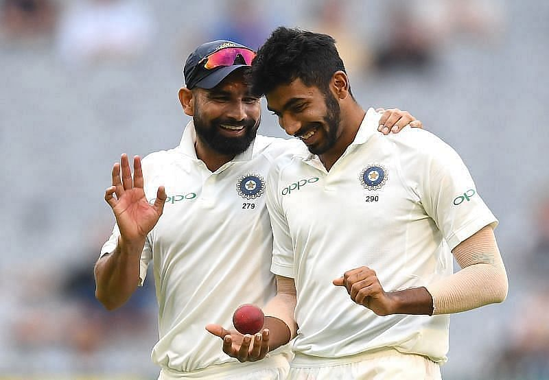 Indian quicks Mohammed Shami and Jasprit Bumrah.