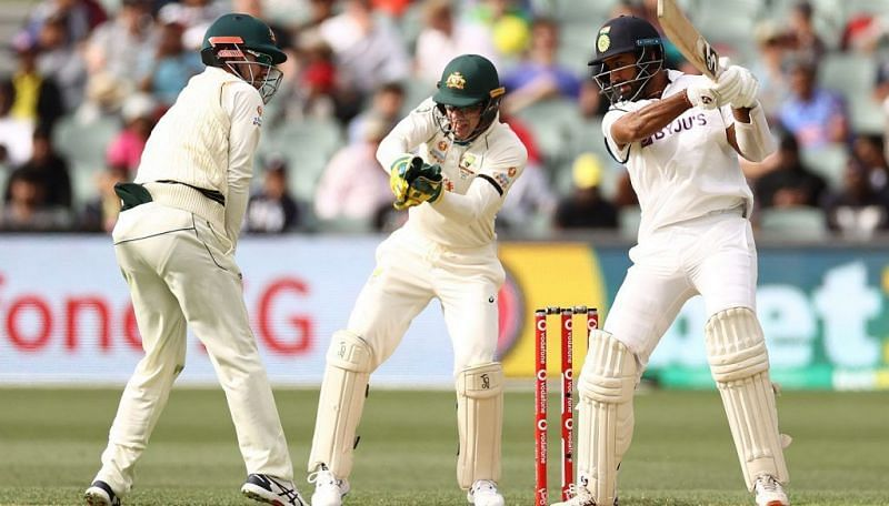 Cheteshwar Pujara batted well for his patient 43 against Australia