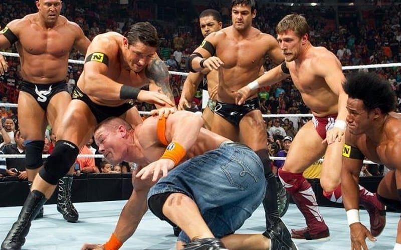 Nexus invades RAW and attacks John Cena