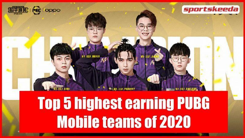 The PUBG Mobile roster of Nova Esports
