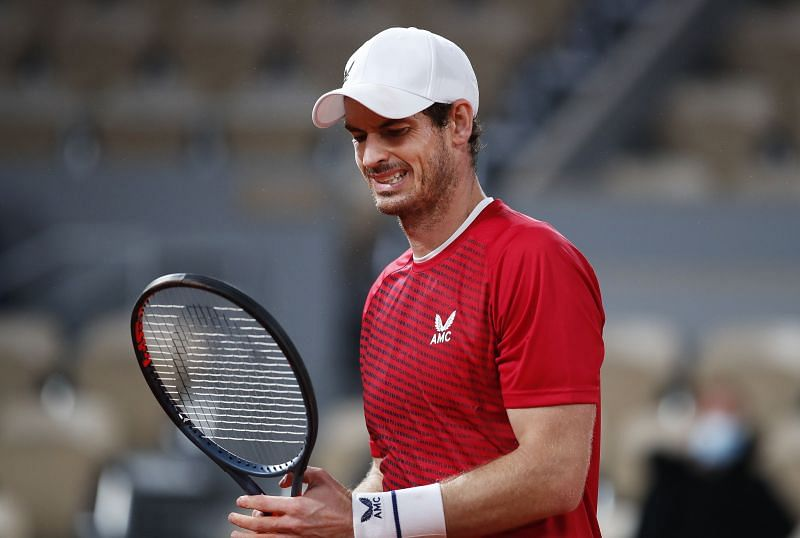 Andy Murray at the 2020 French Open