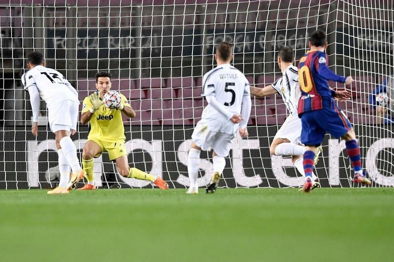 Buffon was in top form against Barcelona, making seven saves in all!