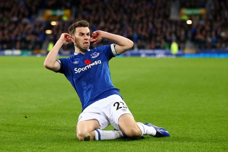 Seamus Coleman might feature for Everton