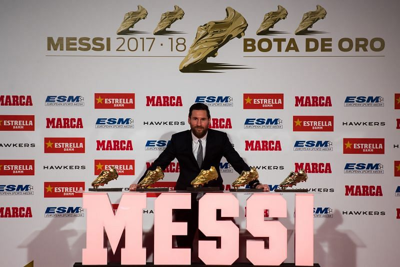 Lionel Messi is a six-time winner of the European Golden Shoe award