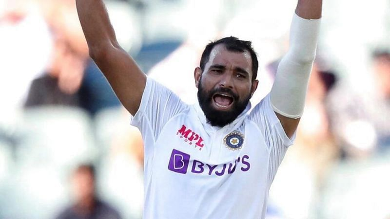 Mohammed Shami was injured after being hit by a Pat Cummins bouncer.