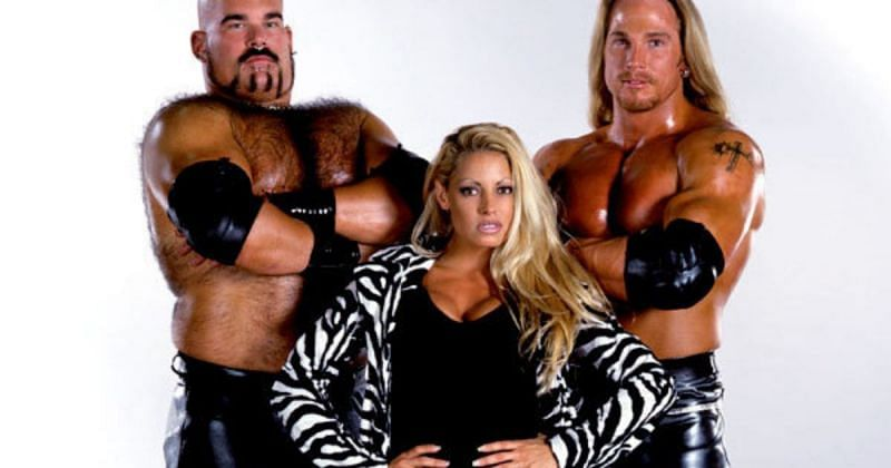 Matt Bloom (A-Train), Trish Stratus, and Test.