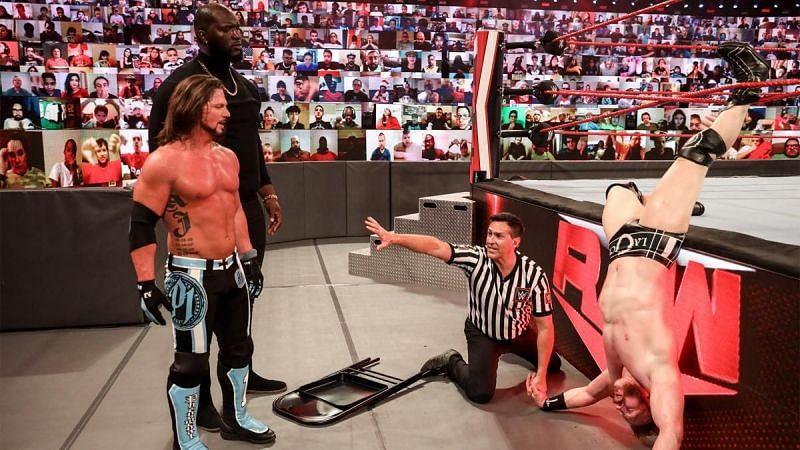 AJ Styles destroyed Sheamus on RAW last night