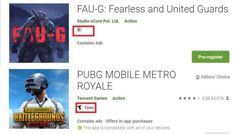 दोनों गेम्स की रेटिंग्स
